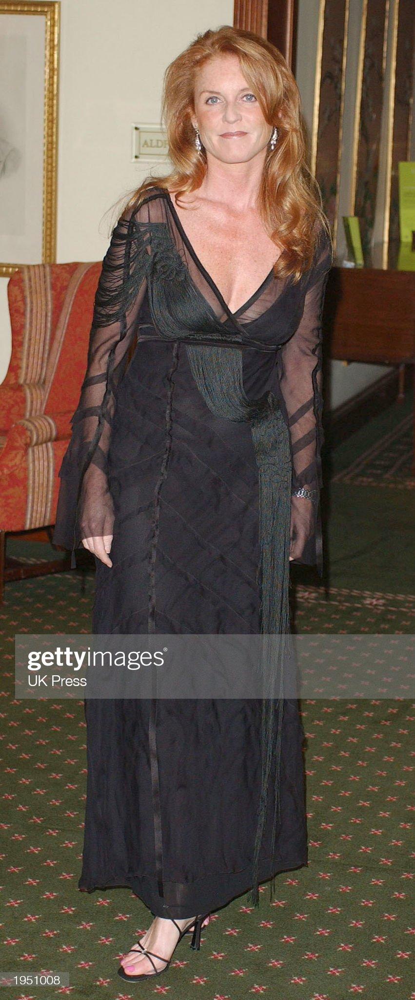 The Duchess of York Sarah Ferguson At Dinner : News Photo