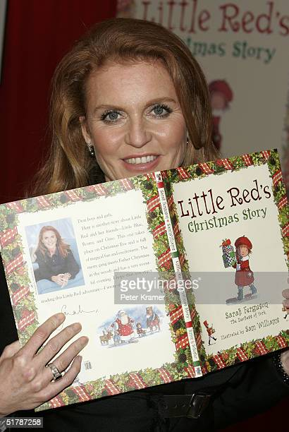The Duchess of York Sarah Ferguson makes an appearance at Toy's 'R' Us in Times Square to sign copies of her new children's book 'Little Red's...