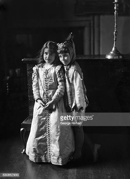 The Duchess of York soon to be England's next queen is pictured at the age of nine with her brother the Hon David BowesLyon The picture was made in...