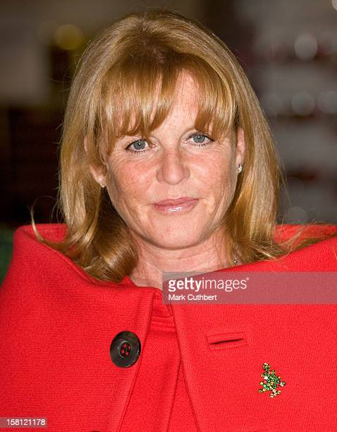 The Duchess Of York, With A Life-Size Topiary Elephant To Launch Selfridges' Green Christmas Shop And The Date An Elephant Charitable Gift, At...