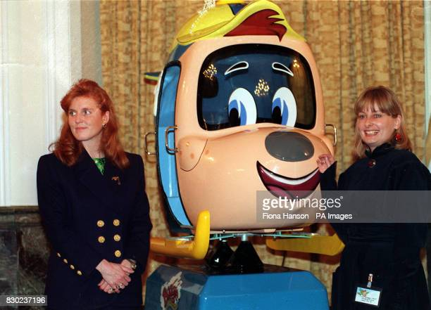 The Duchess of York with producer Vivien Powell at the launch of the ITV cartoon series based on the books written by the Duchess about Budgie the...