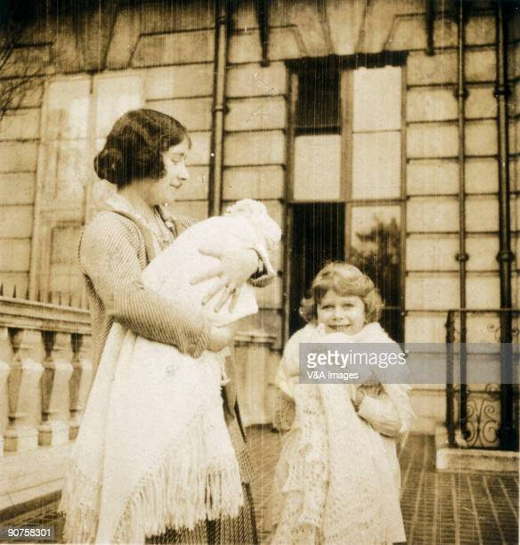 1930 The Duchess of York with the two princesses Margaret Rose and Elizabeth One of a selection of images from a family album taken in 19291930