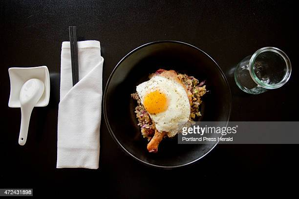 The Duck Confit Fried Rice at Tao Yuan in Brunswick is photographed April 29 2015 for the Eat and Run feature