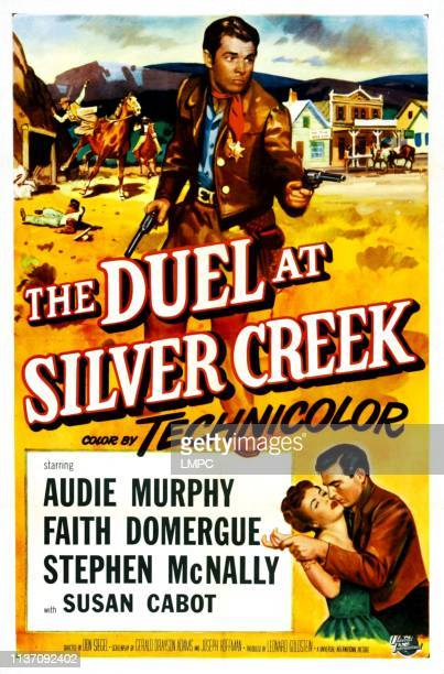 The Duel At Silver Creek, poster, Audie Murphy, Faith Domergue, Stephen McNally, 1952.