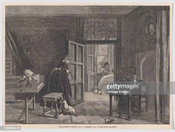 """The Duenna's Return, from """"Illustrated London News"""", May 19, 1860. Artist William Luson Thomas."""