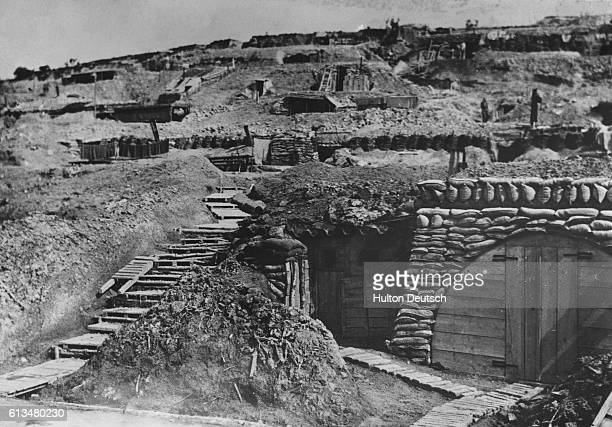 The dugouts and trenches of the French army at Verdun during the First World War The first stage of the Battle of Verdun took place between February...