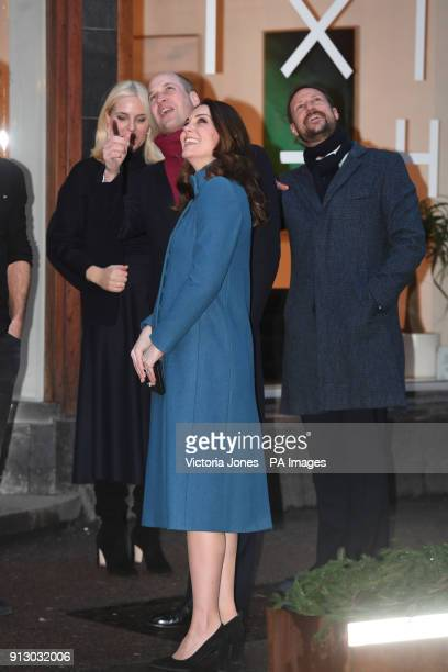 The Duke and Duchess of Cambridge and Crown Prince Haakon arrive at the Entrepreneurs and startup companies event at MESH a coworking space in Oslo...