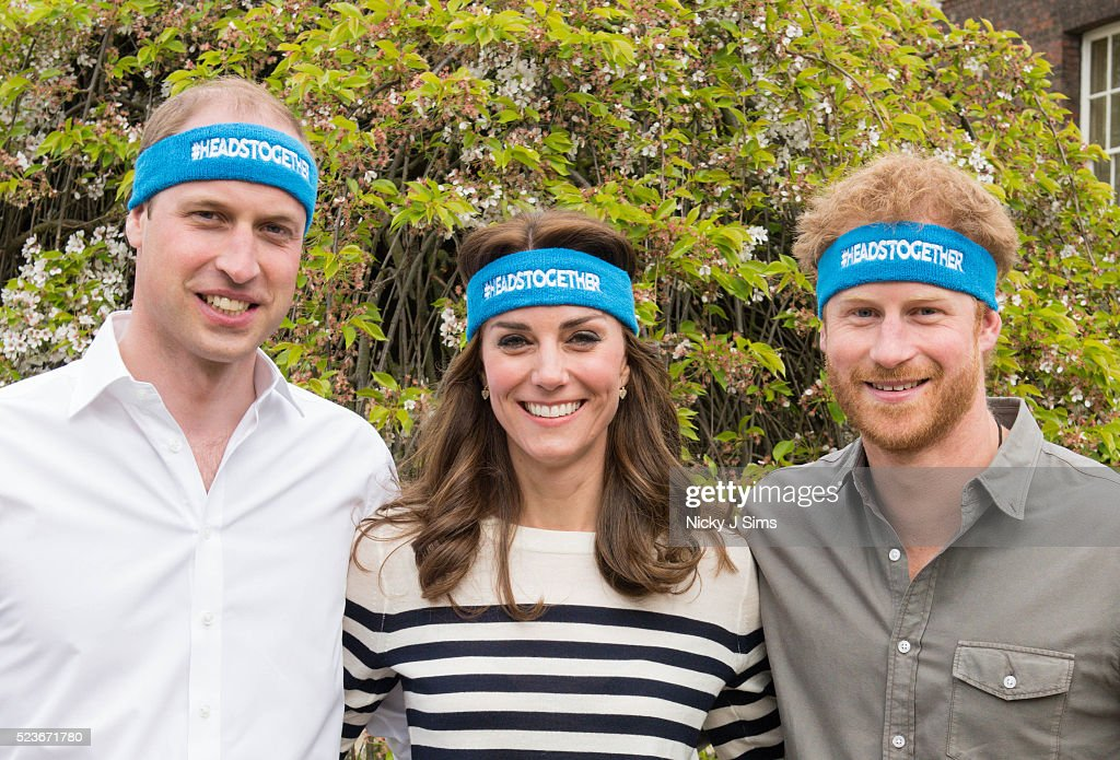 The Duke And Duchess Of Cambridge And Prince Harry Spearhead A New Campaign Called Heads Together To End Stigma Around Mental Health. : News Photo