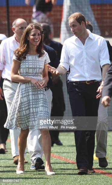 The Duke and Duchess of Cambridge and Prince Harry at Bacon's College in Greenwich, London to attend the launch of a new sports project that aims to...