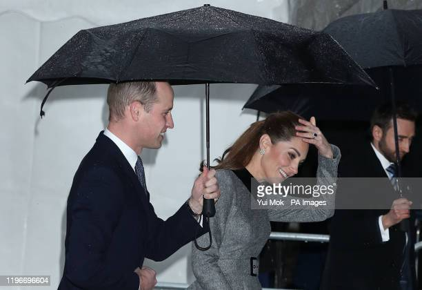 The Duke and Duchess of Cambridge arrive at Central Hall in Westminster, London, to attend the UK Holocaust Memorial Day Commemorative Ceremony.
