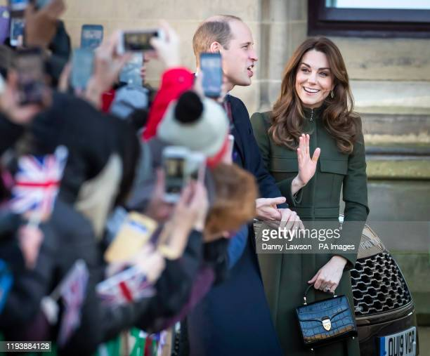 The Duke and Duchess of Cambridge arrive for a visit to City Hall in Bradford to join a group of young people from across the community to hear about...
