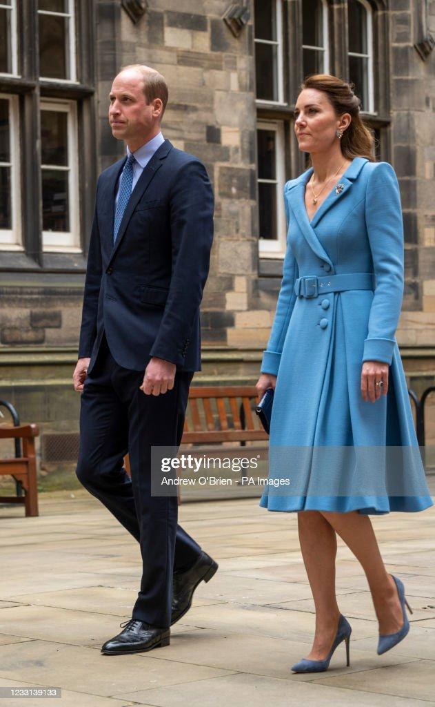 Duke and Duchess of Cambridge tour of Scotland : Nieuwsfoto's