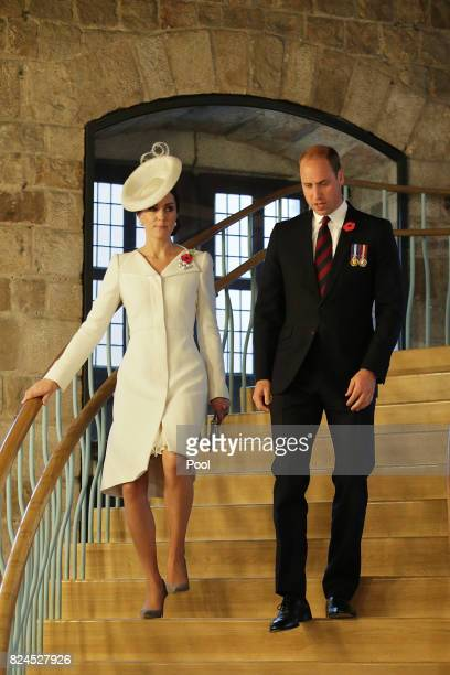 The Duke and Duchess of Cambridge arrive in the Cloth Hall for the official commemorations marking the 100th anniversary of the Battle of...