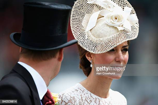 The Duke and Duchess of Cambridge arrive on day 2 of Royal Ascot at Ascot Racecourse on June 15, 2016 in Ascot, England.