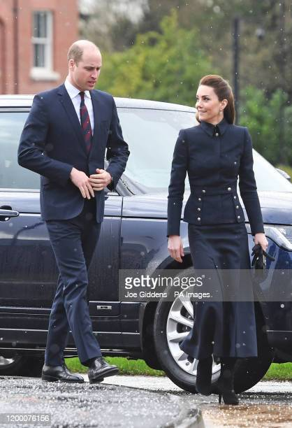 The Duke and Duchess of Cambridge arriving at the Defence Medical Rehabilitation Centre Stanford Hall Stanford on Soar Loughborough where they will...