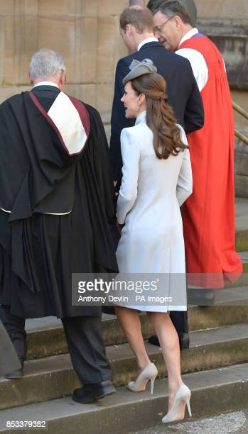 The Duke and Duchess of Cambridge attend the Easter Sunday Church Service at St Andrew's Cathedral Sydney during the fourteenth day of their official...
