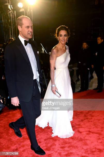 The Duke and Duchess of Cambridge attend the EE British Academy Film Awards at Royal Albert Hall on February 10 2019 in London England