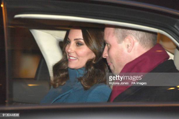 The Duke and Duchess of Cambridge leave following their visit to the entrepreneurs and startup companies event at MESH a coworking space in Oslo...