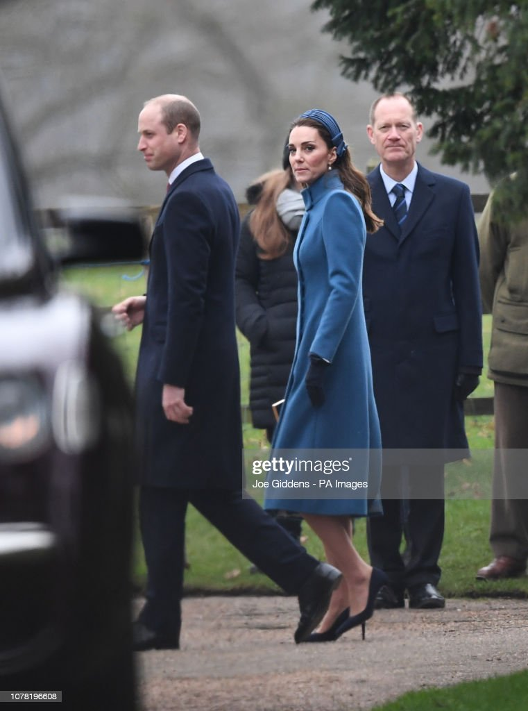 Royals attend church : ニュース写真