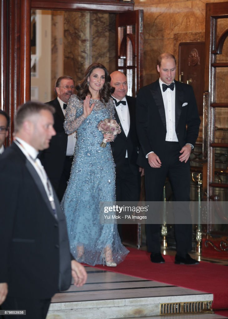 The Duke and Duchess of Cambridge leaving after they attended the Royal Variety Performance at the London Palladium in central London.