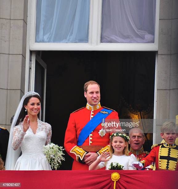 The Duke and Duchess of Cambridge on the balcony of Buckingham Palace after the Royal wedding in London, England at Westminster Abbey, Friday 29...