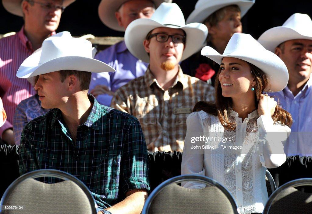 e7b7c6da10a24 The Duke and Duchess of Cambridge wear matching a Stetson hat as ...