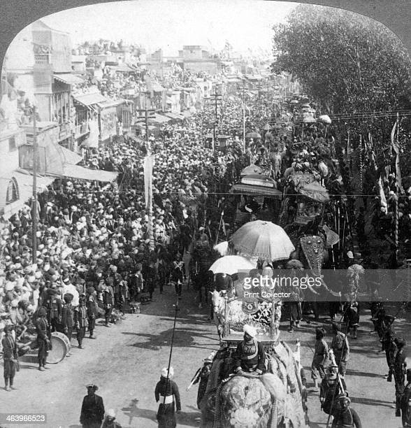 The Duke and Duchess of Connaught in the great Durbar procession Delhi India 1903 The procession was held in honour of the coronation of King Edward...