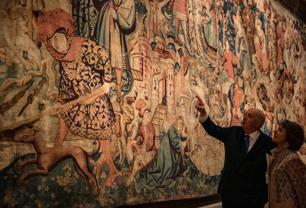 GBR: Chatsworth House Displays Devonshire Hunting Tapestries Ahead Of Reopening