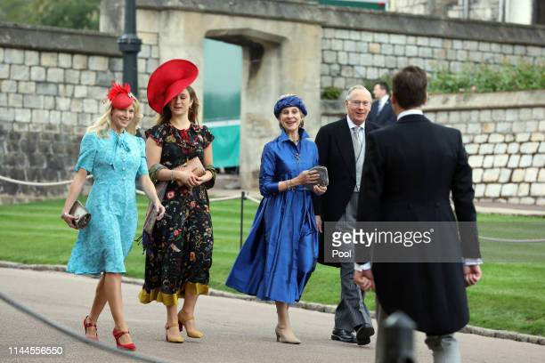 The Duke and Duchess of Gloucester arrive ahead of the wedding of Lady Gabriella Windsor and Thomas Kingston at St George's Chapel on May 18, 2019 in...