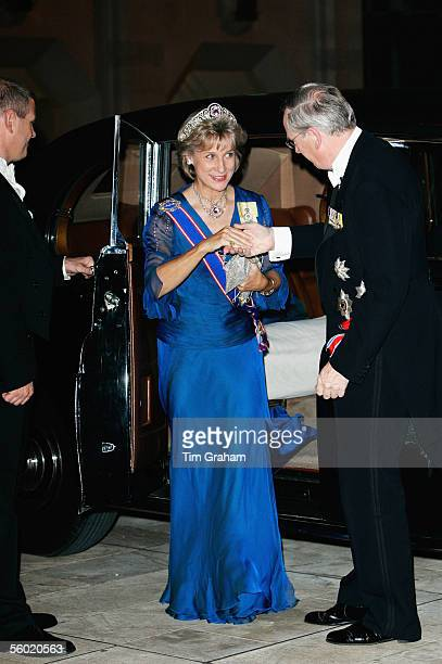 The Duke and Duchess of Gloucester attend a dinner at the Guildhall held in honour of the Norwegian Royal Family visit to Britain on October 26 2005...