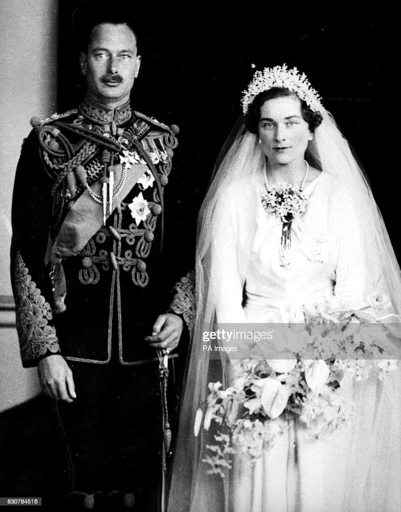 Royalty - Duke of Gloucester and Alice Montagu-Douglas-Scott Wedding - London : Nieuwsfoto's