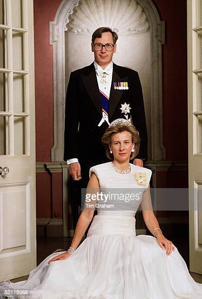 The Duke And Duchess Of Gloucester, Photographed On Their 17th Wedding Anniversary.