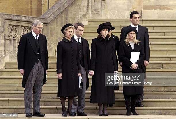 The Duke And Duchess Of Gloucester The Earl And Countess Of Ulster Lady Rose Windsor Lady Davina Lewis And Her Husband Gary Lewis Attending The...