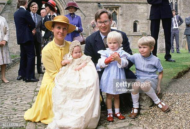 The Duke And Duchess Of Gloucester With Their Family At The Christening Of Their Daughter Lady Rose
