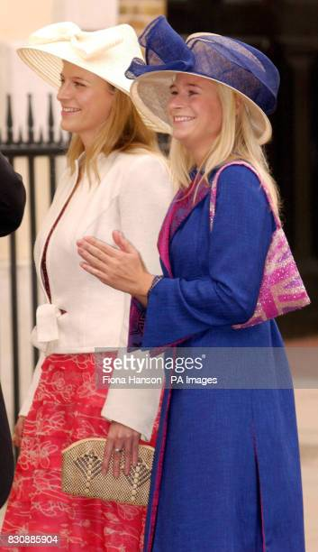 The Duke and Duchess of Gloucester's daughters Lady Davina and Lady Rose Windsor attend the marriage of their brother the Earl of Ulster Alexander...