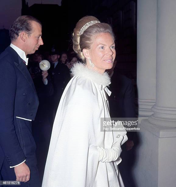 The Duke and Duchess of Kent arriving for a State Banquet at the Italian Embassy in London on 24th April 1969 This image is one of a series taken by...