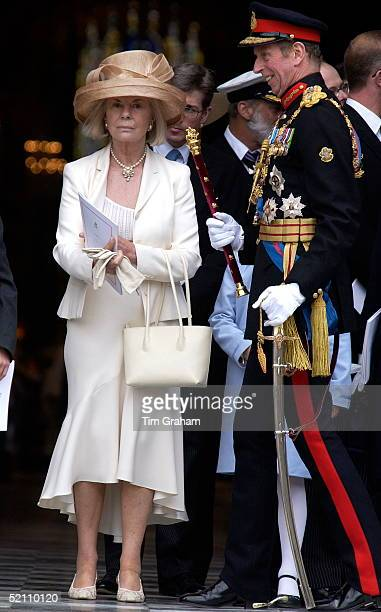 The Duke And Duchess Of Kent At St Paul's Cathedral For The Service To Mark The Queen's Golden Jubilee