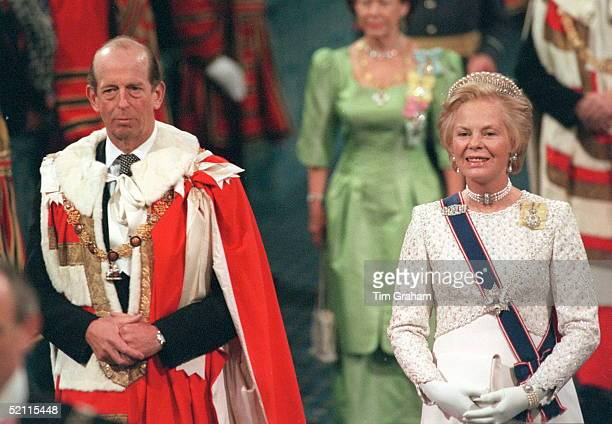 The Duke And Duchess Of Kent At The State Opening Of Parliament