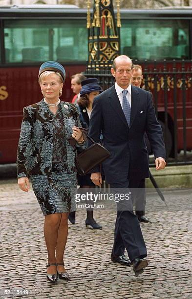 The Duke And Duchess Of Kent At Westminster Abbey For Golden Wedding Anniversary Service