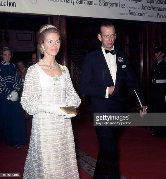 The Duke and Duchess of Kent attending a film premiere at the Dominion Theatre in London on 20th October 1969 This image is one of a series taken by...