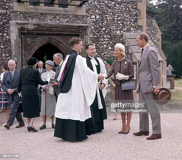 The Duke and Duchess of Kent attending church at Iver Buckinghamshire on 9th July 1961 This image is one of a series taken by Ray Bellisario who was...