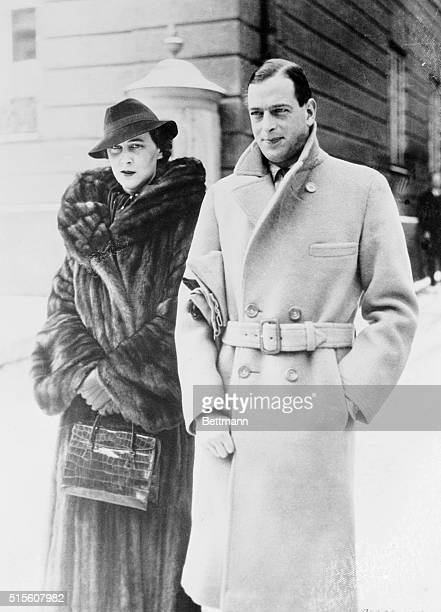 The Duke and Duchess of Kent pictured while strolling in Munich Germany where they were guests of the Count and Countess ToerringJettenbach