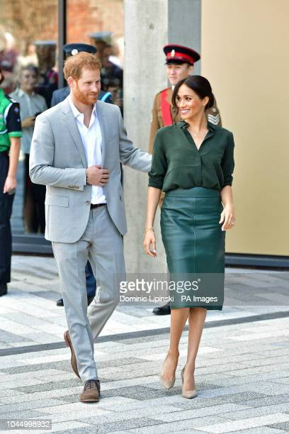 The Duke and Duchess of Sussex arrive at the University of Chichester Bognor Regis West Sussex as part of their first joint official visit to Sussex