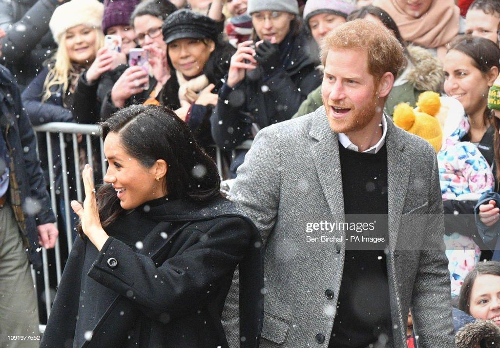 Duke and Duchess of Sussex visit Bristol : News Photo
