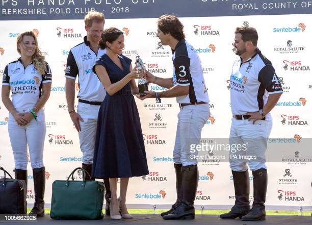 The Duke and Duchess of Sussex at the Sentebale ISPS Handa Polo Cup at the Royal County of Berkshire Polo Club in Windsor