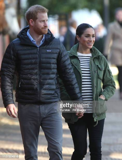 The Duke and Duchess of Sussex during a visit to the Moroccan Royal Federation of Equestrian Sports in Rabat on the third day of their tour of Morocco