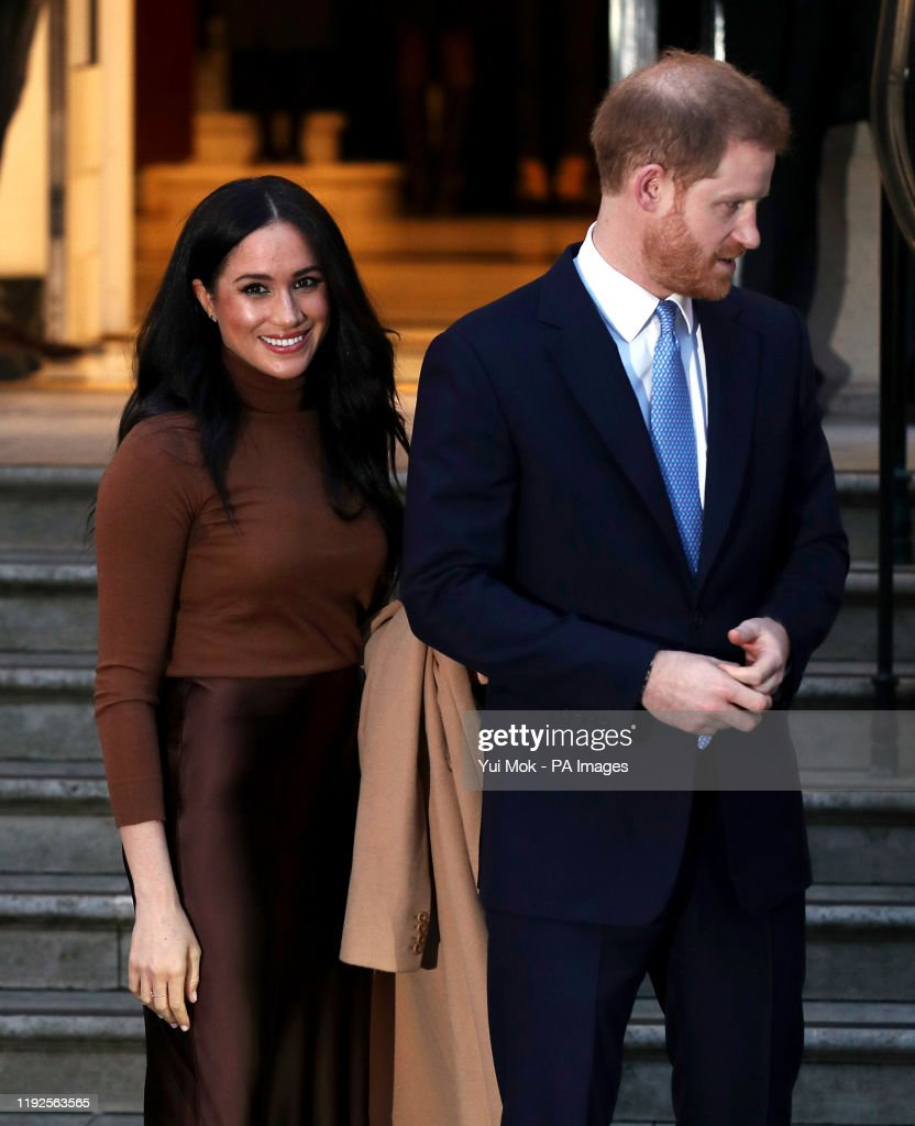 Duke and Duchess of Sussex visit to Canada House : News Photo