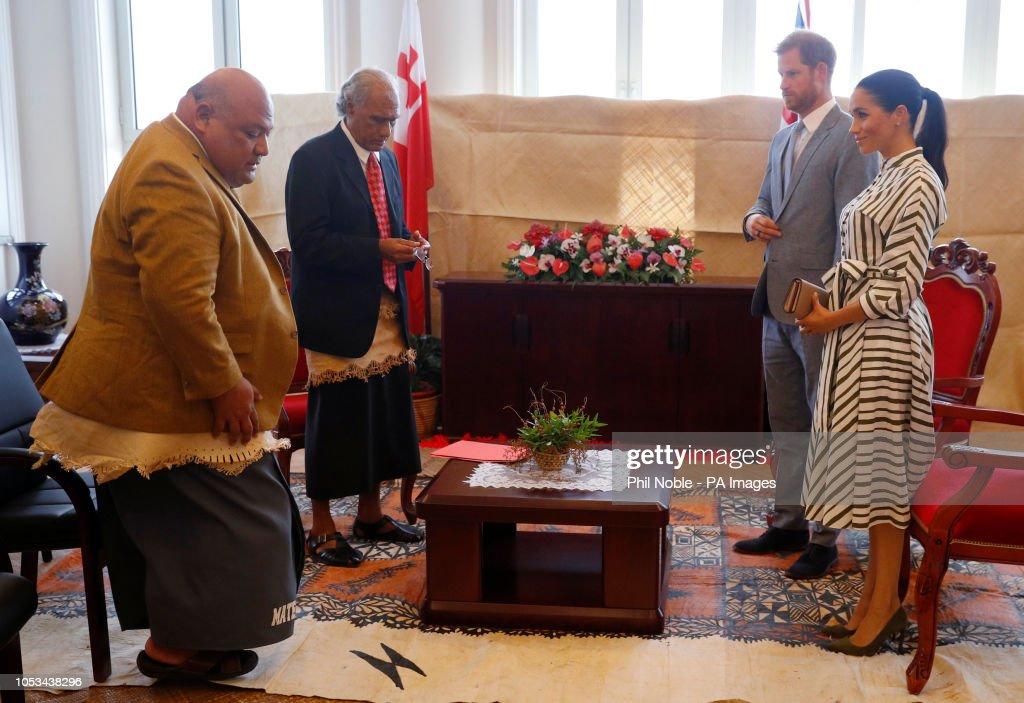Royal tour of Tonga - Day Two : News Photo