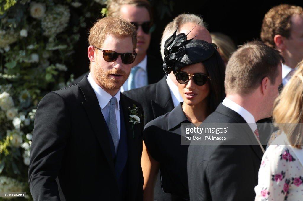Charlie van Straubenzee and Daisy Jenks wedding : News Photo