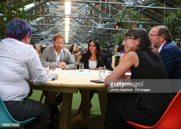 The Duke and Duchess of Sussex visit DogPatch Labs, a co-working space for technology start-ups located in Dublin's 'Digital Docklands' during their...